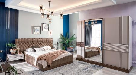 Mirage Yatak Odası Ceviz-Krem