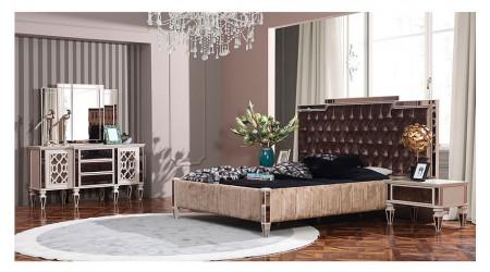 Anemon Art Yatak Odası - Krem