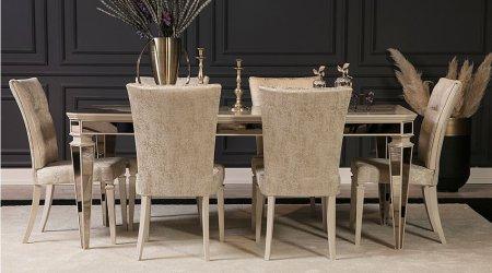 Anemon Art Yemek Masası Takımı - Krem