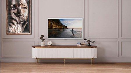 Tesla Ekru Tv Sehpası