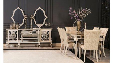 Anemon Art Yemek Odası - Krem